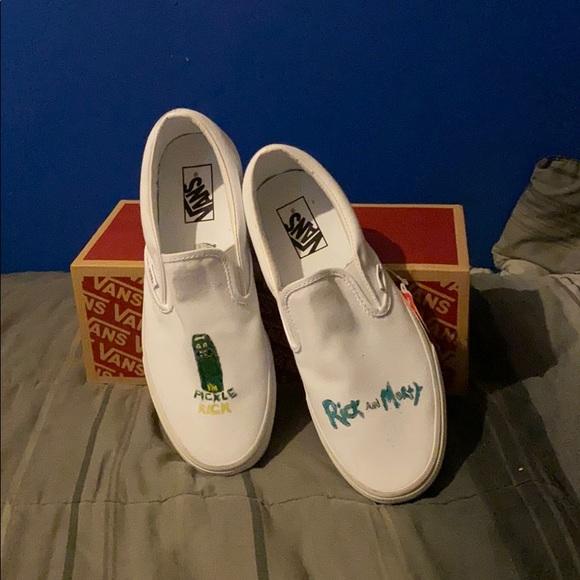 Vans Shoes   Custom Rick And Morty Slip